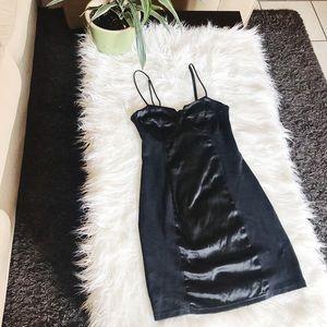 Fashion Nova Black Cocktail Dress Spaghetti Straps
